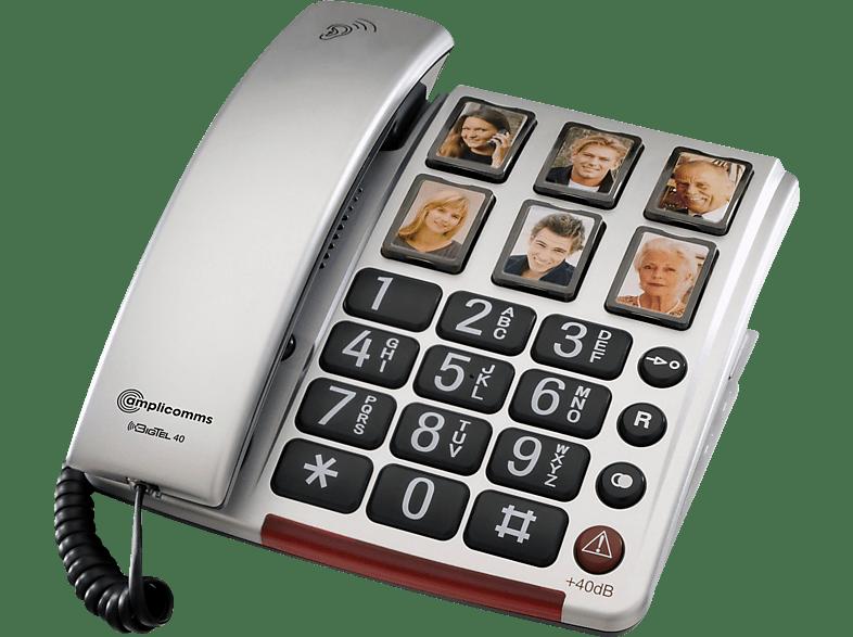 AMPLICOMMS amplicomms BigTel 40 Plus Großtastentelefon