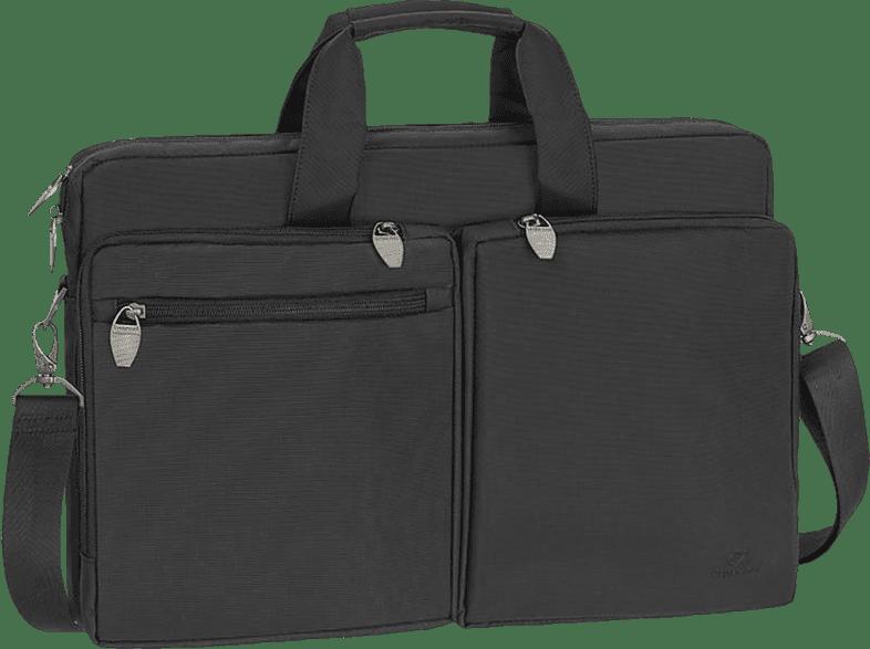 RIVACASE 8550 Notebooktasche Aktentasche für Universal Polyester, Schwarz