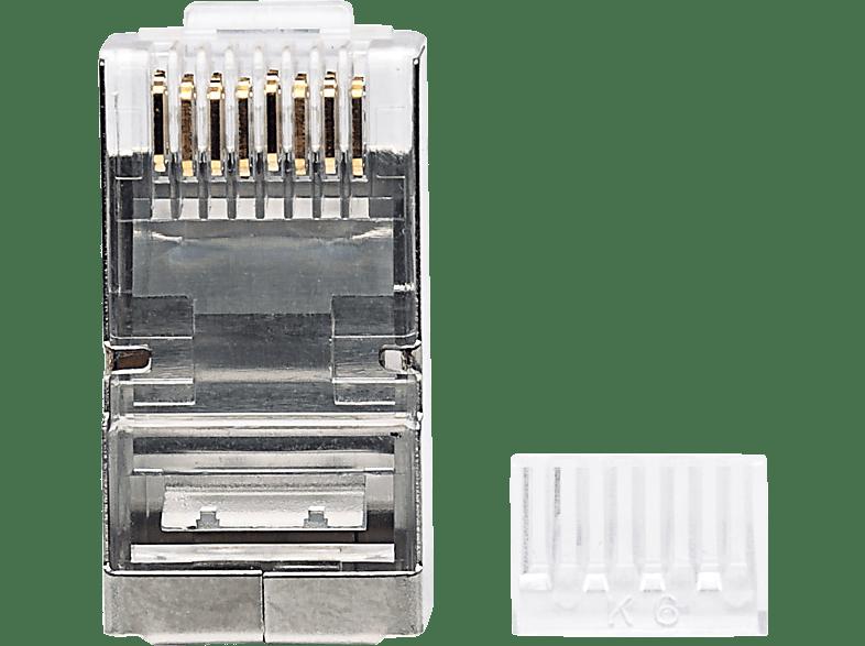 INTELLINET 90er-Pack Cat6 RJ45-Modularstecker, Modularstecker