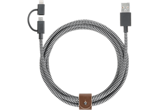 NATIVE UNION UNION Belt Cable Twinhead - Câble Lightning et Micro USB (-)