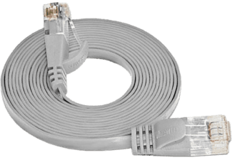 WIREWIN SLIM CAT6 - Patchkabel (Grau)