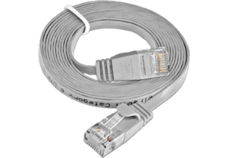 WIREWIN CAT6 SLIM UTP - Cavo patch (Grigio)