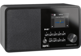 IMPERIAL Dabman i150 - Radio digitale (DAB+, FM, Internet radio, Nero)