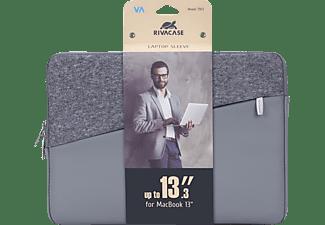 RIVACASE 7903 Notebooktasche Sleeve für Universal Polyurethane, Polyester, Grau