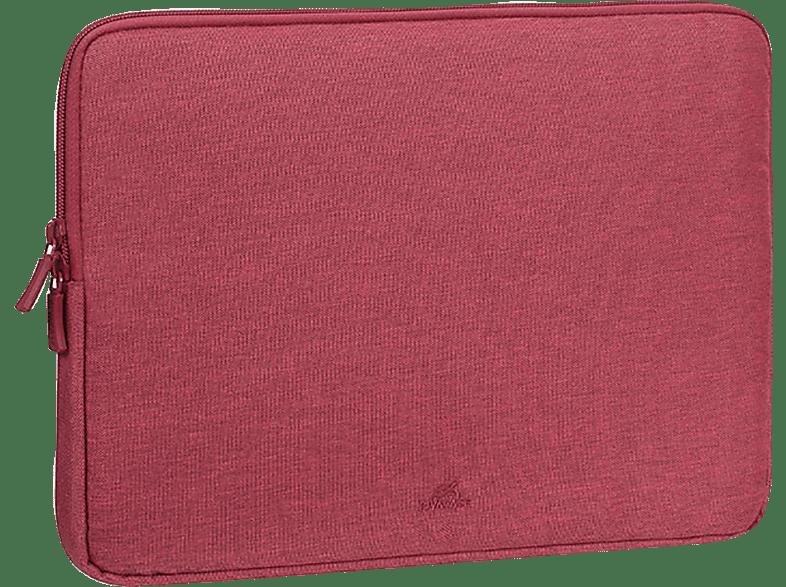 RIVACASE 7703 Notebooktasche, Sleeve, 13.3 Zoll, Rot