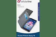 CELLULAR LINE Book , Bookcover, Huawei, P Smart, Enjoy 7S, Kunstleder, Schwarz