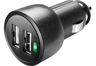 CELLULAR LINE USB Car Charger Dual Ultra - - (Nero)