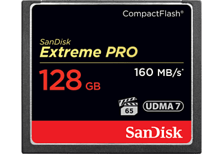 SANDISK EXTREM PRO 160MB/S - Compact Flash-Cartes mémoire  (128 GB, Noir)