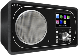 PURE DIGITAL Evoke F3 - Digitalradio (DAB+, FM, Internet radio, Schwarz)
