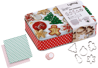 LEKUE CHRISTMAS COOKIES KIT COLOURED -