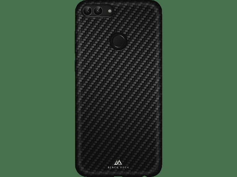 BLACK ROCK Flex-Carbon , Backcover, Huawei, P Smart, Mikrofaser/Polycarbonat, Schwarz