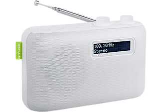 MUSE M-108 DW - Radio digitale (DAB+, FM, Bianco)