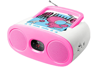 MUSE M-20 KDG - Kinderradio (AM, FM, Pink/Weiss)