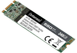 INTENSO M.2 HIGH - Disco rigido interno SSD (SSD, 240 GB, Nero/Verde)