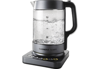 CARRERA NO651 Wasserkocher, Edelstahl/Schwarz