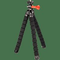 HAMA Flex 2 in 1 Dreibein Stativ, Schwarz, Höhe offen bis 260 mm