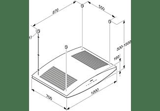 MIELE DA 7006 D, Dunstabzugshaube (1000 mm breit, 700 mm tief)
