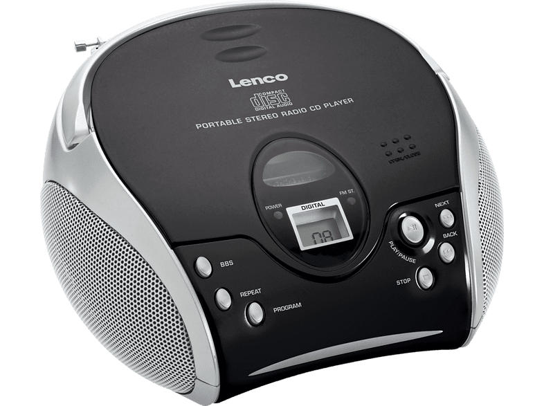 LENCO SCD-24 Radiorecorder (Schwarz/Silber)