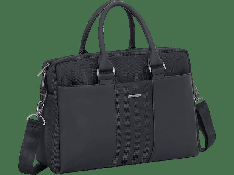 RIVACASE 8121 Notebooktasche, Umhängetasche, 14 Zoll, Schwarz
