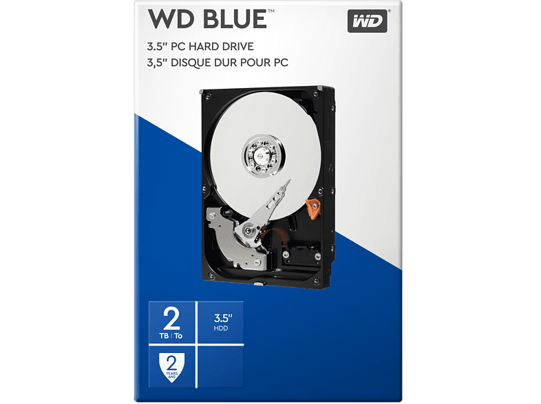 WESTERN DIGITAL Interne harde schijf Mainstream 2TB SATA 6GBs (WDBH2D0020HNC)