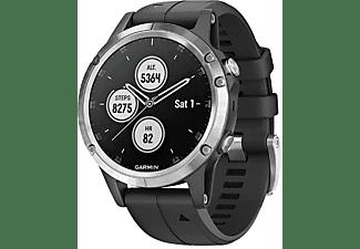 GARMIN Smartwatch Fenix 5 Plus, silber/schwarz (010-01988-11)