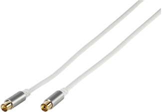 VIVANCO Premium 90db Antennkabel + Adapter 3m - Vit