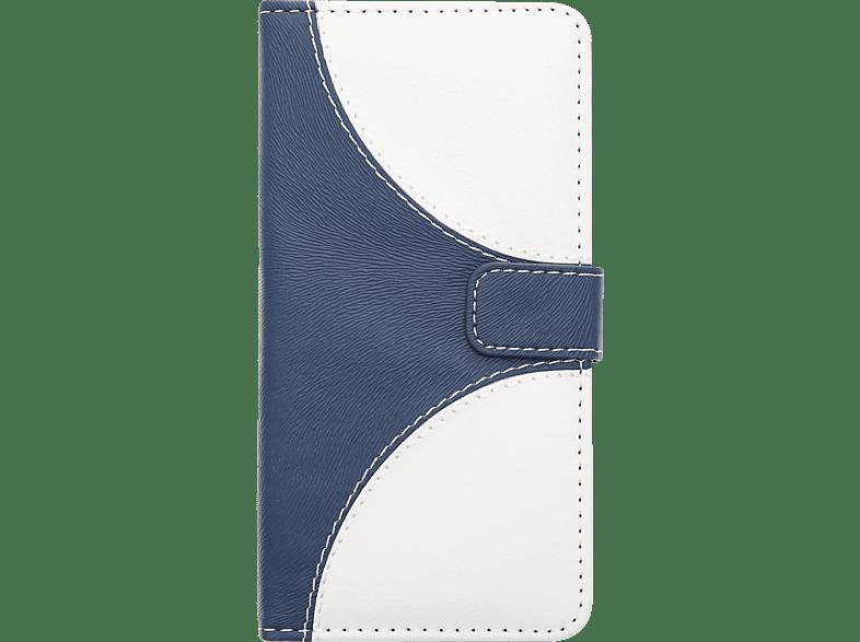 V-DESIGN NFC 145 Bookcover Wiko Lenny 4 Kunstleder Blau/Weiß