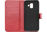 V-DESIGN V-2-1 141 , Bookcover, Samsung, A6 2018, Kunstleder, Rot