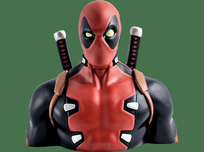 SEMIC DISTRIBUTION Marvel Deluxe Spardose Deadpool Büste Spardose, Schwarz/Rot