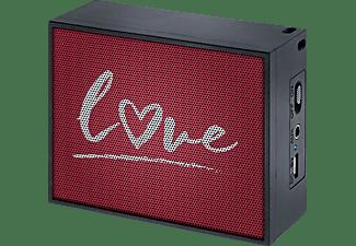 MAC AUDIO BT Style 1000 Love Bluetooth Lautsprecher, Schwarz/Rot