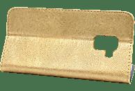 AGM 27099 , Bookcover, Samsung, A8 (2018), Obermaterial Kunststoff, Gold
