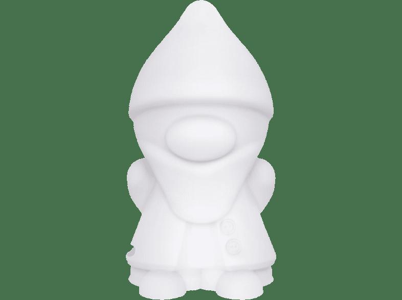 BIGBEN Lumin'us Zwerg/Dwarf Bluetooth Lautsprecher, Tansparent/Weiß