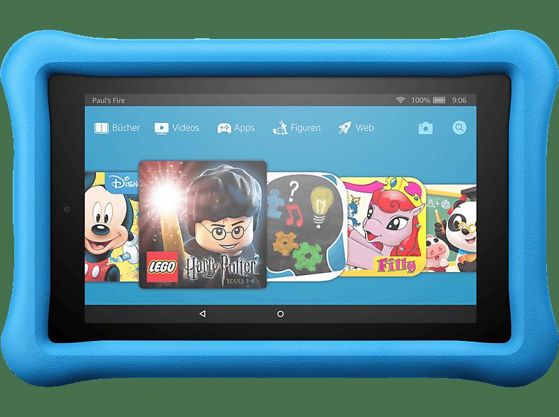 AMAZON Fire 7 Kids Edition, Tablet , 16 GB, 7 Zoll, Schwarz/Blau