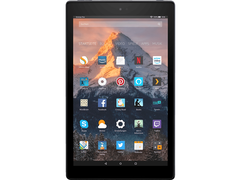 AMAZON Fire HD 10, Tablet , 32 GB, 10 Zoll, Schwarz