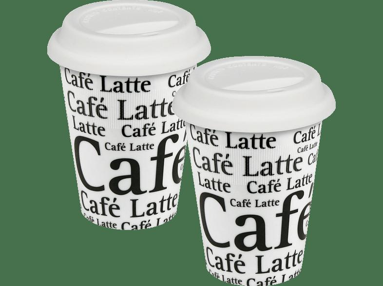 KÖNITZ 1150000647 Schrift auf Weiß Travelers 2er Kaffeebecher