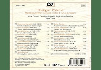 Vocal Concert Dresden - FLORILEGIUM PORTENSE - MOTETS & HYM  - (CD)