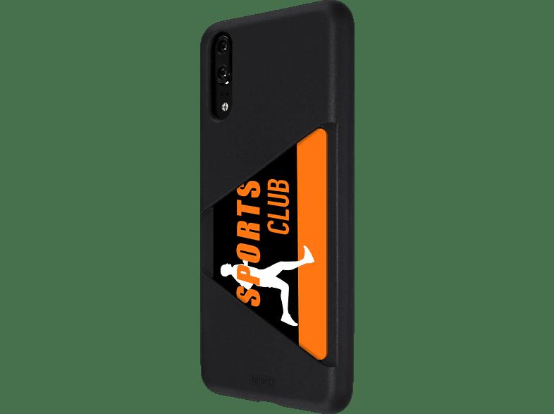 ARTWIZZ TPU Card Case , Backcover, Huawei, P20, Thermoplastisches Polyurethan, Schwarz