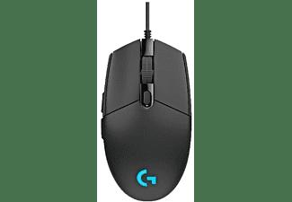 Ratón gaming - Logitech G203 Prodigy, 6000 DPI, USB, 6 botones programables, Negro