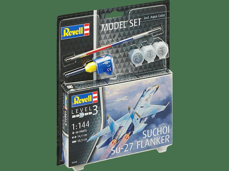 REVELL Model Set Suchoi Su-27 Flanker Spielwaren, Mehrfarbig