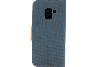 AGM Fashion, Bookcover, Samsung, Galaxy A8 (2018), Navy Blau