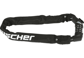 FISCHER Kettenschloss mit Zahlenwalze, Länge: 65cm, schwarz