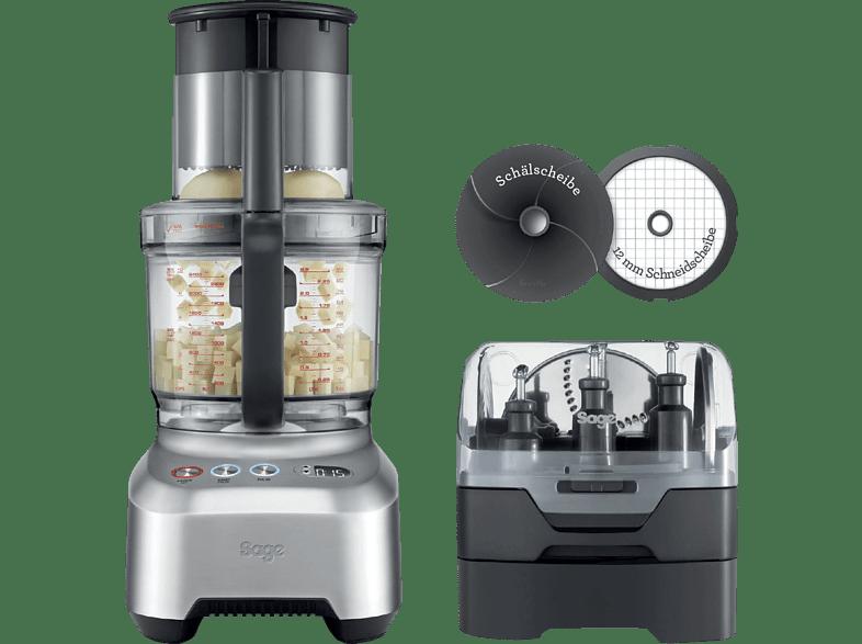 SAGE SFP820BAL2EEU1 The Kitchen Wizz Peel  Kompaktküchenmaschine Silber 2000 Watt