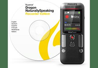 PHILIPS Stereo mit Dragon Spracherkennungssoftware Diktiergerät, Schwarz
