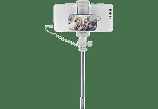 CELLULAR LINE Selfie Stick Total View mit drehbarem Spiegel, schwarz (SELFIESTICKVIEWK)