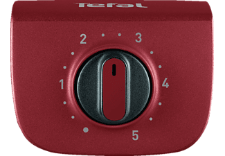 TEFAL BG90E5 EasyGrill Adjust Elektrogrill, Rot/Schwarz (2300 Watt)