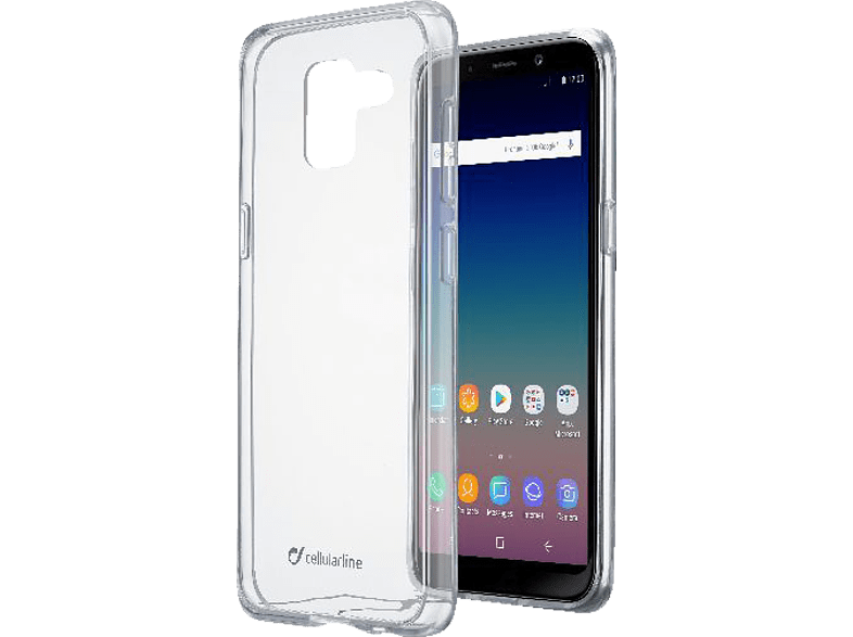 CELLULAR LINE Clear Duo , Backcover, Samsung, Galaxy J6 (2018), Thermoplastisches Polyurethan, Transparent