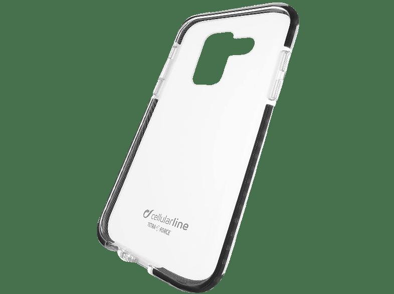 CELLULAR LINE Tetra Force , Backcover, Samsung, Galaxy A6, Thermoplastisches Polyurethan + Versaflex™ + Polycarbonat, Schwarz