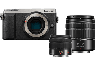 PANASONIC Appareil photo hybride Lumix DMC-GX80 + 14-42mm + 45-150mm + Case (DMC-GX80 DZK HPACK)