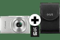 CANON IXUS 190 Kit Digitalkamera Silber, 20.0 Megapixel, 10fach opt. Zoom, LCD (TFT), WLAN