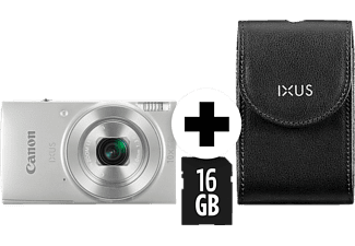CANON IXUS 190 Kit Digitalkamera Silber, 10fach opt. Zoom, LCD (TFT), WLAN